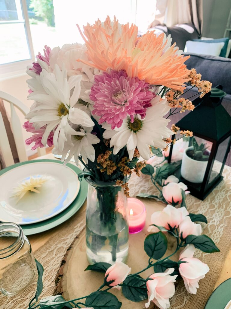 Fresh flower bouquet - Pretty Spring Tablescape