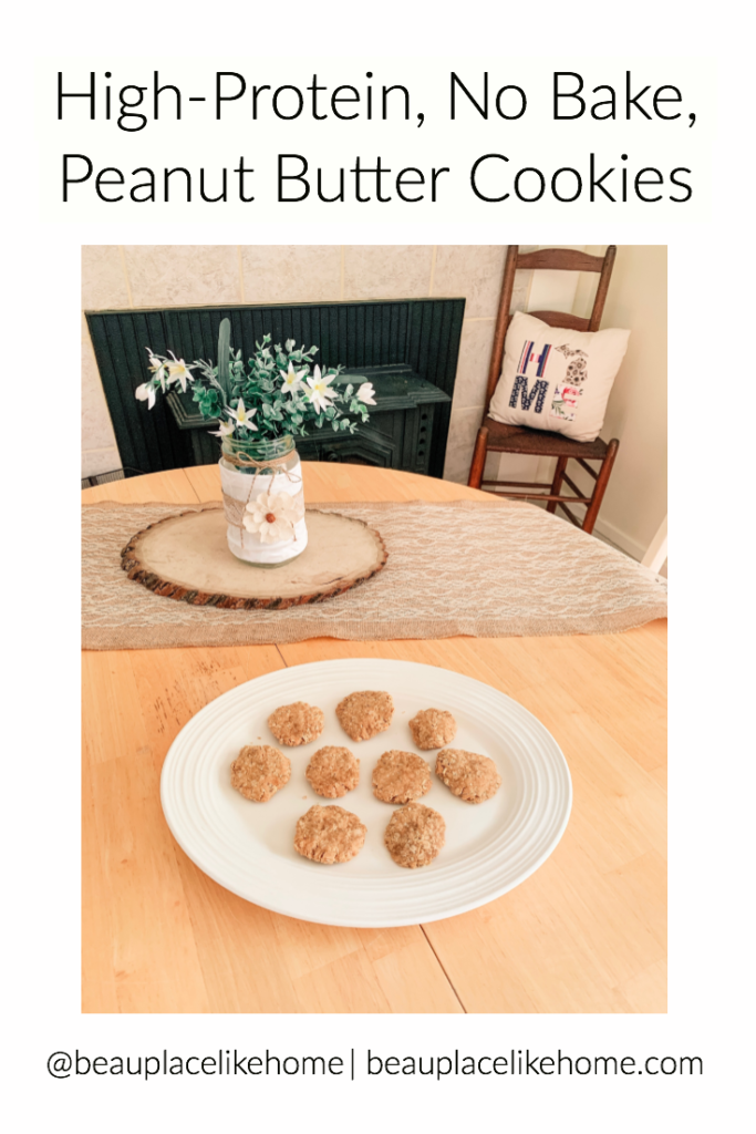 High-Protein, No Bake, Peanut Butter Cookies