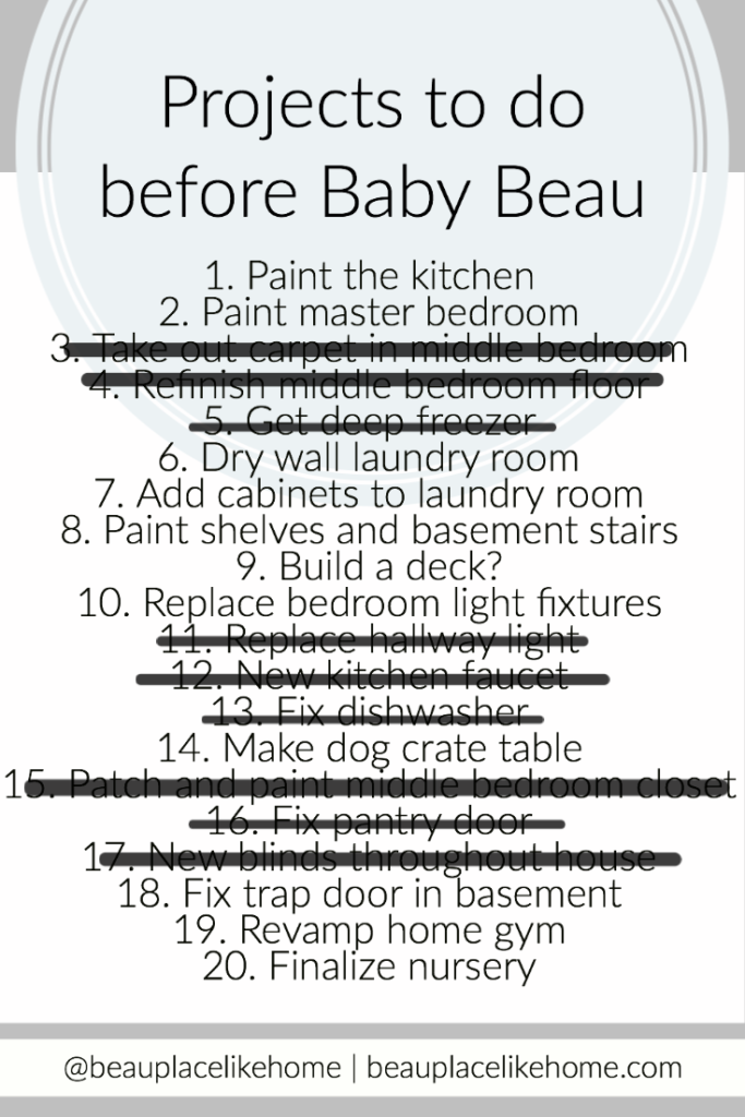 Baby To-Do List