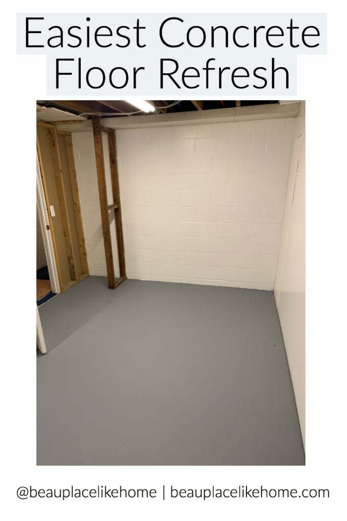 Easy Concrete Floor Paint