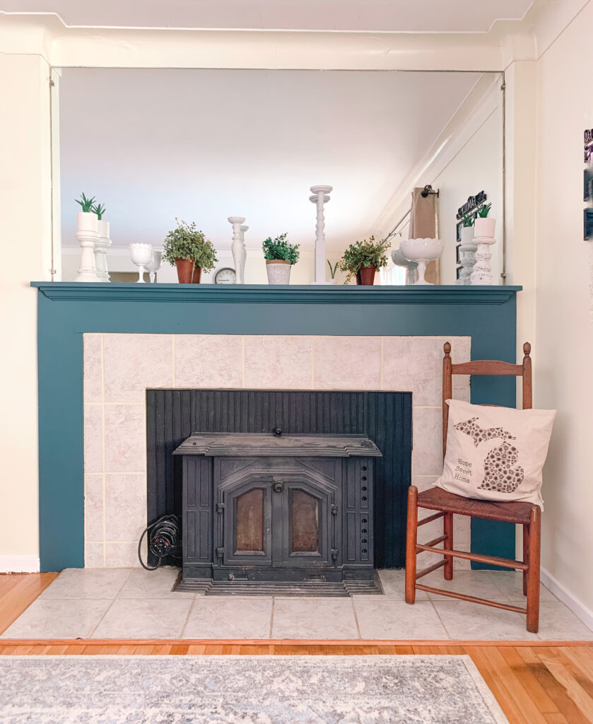 Fireplace Makeover Using Paint