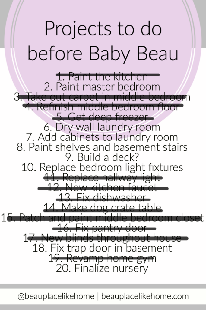 Baby To Do List