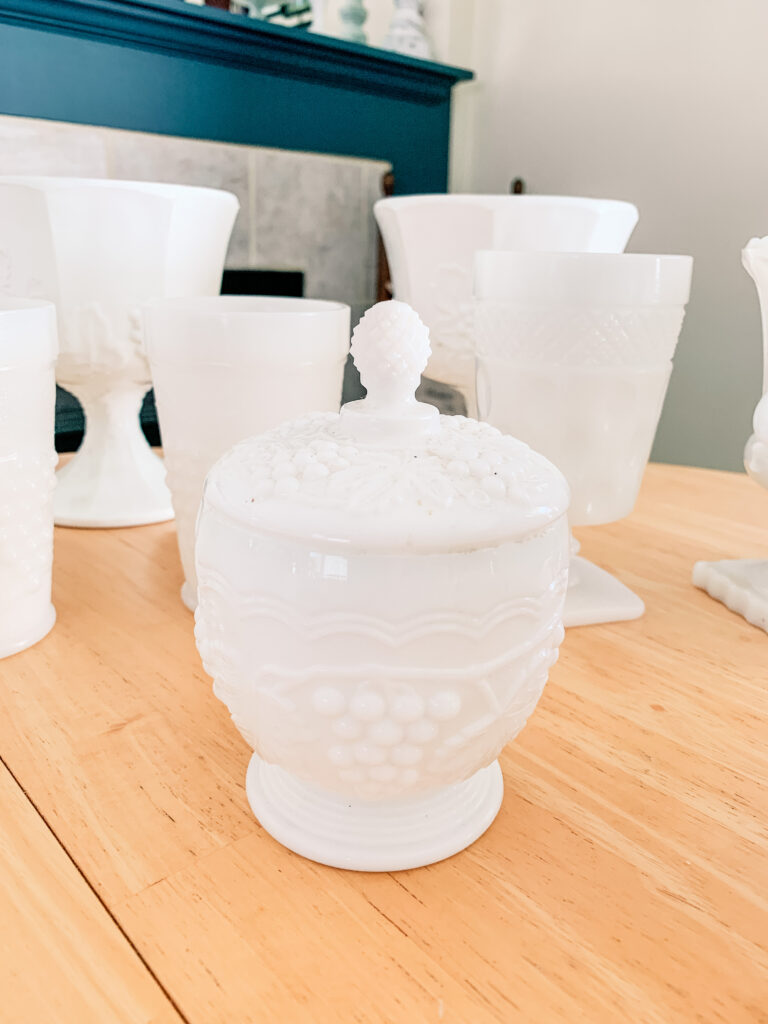 My New Milk Glass Collection!