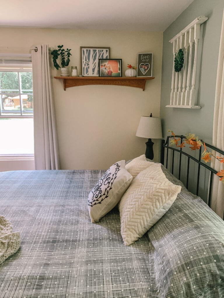 Fall-ified Master Bedroom